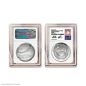 The First U.S. Mint 90% Silver Curved Baseball Coin