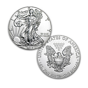 First Strike 2017 American Eagle Silver Dollar and Display