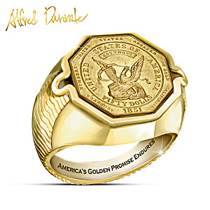 The Durante Gold Rush Proof Coin Ring With 24K-Gold Plating