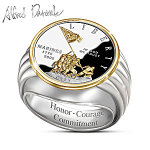 Alfred Durante Iwo Jima Commemorative Silver Proof Ring
