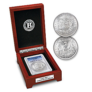 The Last Morgan Silver Dollar In BU Mint State 63 Grade