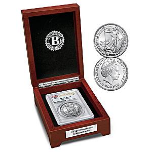 First Strike 2016 1 Oz Silver Britannia Coin And Display Box
