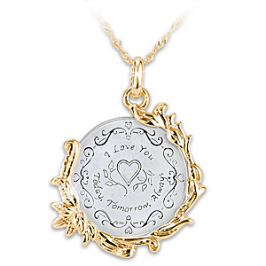 Historic Love Token Coin-Inspired Pendant Necklace