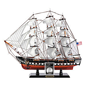 The USS Constitution Sculpture and Replica Coin Set
