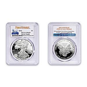 American Eagle Silver Dollar: Incused Edge First Strike Coin