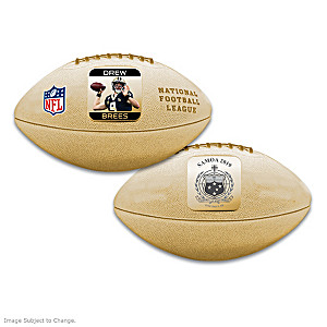 World's First Drew Brees 3D Football Coin