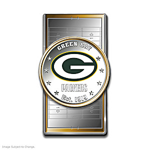 Packers Money Clip With Team Logo Silver Dollar