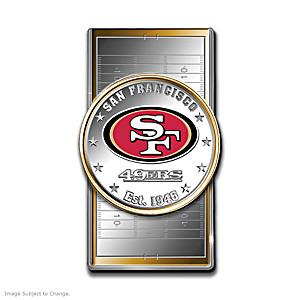 49ers Money Clip With Team Logo Silver Dollar