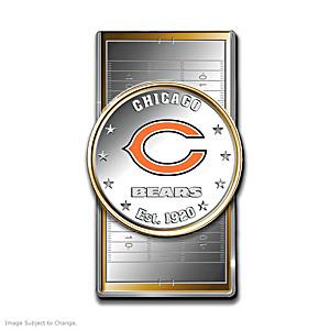 Bears Money Clip With Team Logo Silver Dollar