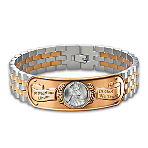 The Genuine Steel Penny Men's Stainless Steel Bracelet