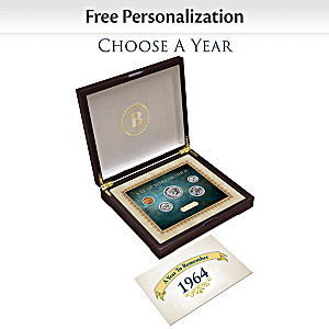 Personalized Birth Year Coins (1937-2018) With Display Box