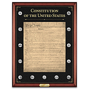 """""""The U.S. Constitution Commemorative Tribute"""" Wall Decor"""
