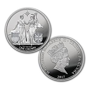 2017 Liberty & Britannia 1 Oz. Silver Coin With Display Box