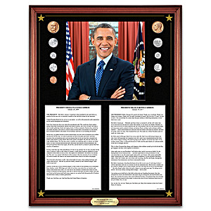 President Obama Inaugural & Farewell Addresses Wall Decor