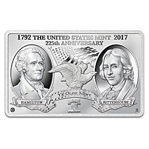 """225 Years Of American Coinage"" Silver Tribute Minted Bar"