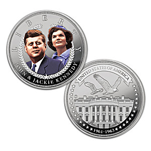 The JFK & Jackie Days Of Camelot 99.9% Silver Coin