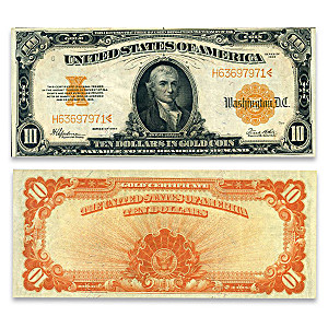 1922 $10 U.S. Gold Certificate Horse Blanket - Hillegas Note