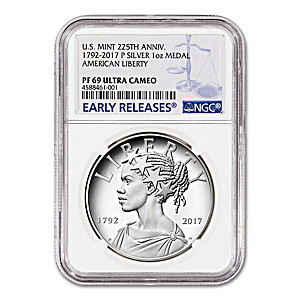 The 2017 PF69 African-American Lady Liberty Silver Medallion
