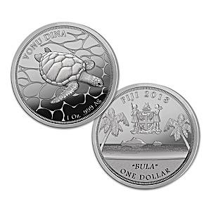 "2018 Fiji ""BULA"" One Troy Ounce Silver Proof Dollar Coin"