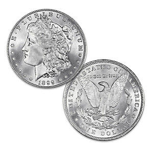 "The ""Micro-O Error"" Morgan Silver Dollar With Display Box"