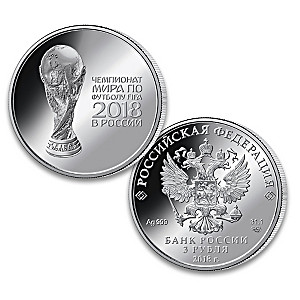 2018 FIFA World Cup Silver Coin and Licensed Gift Box