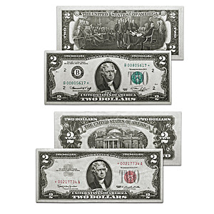 First And Last $2 Star Note Currency Set With Display Box
