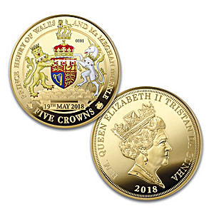 """The Royal Wedding"" Legal Tender Five Crown Proof Coin"