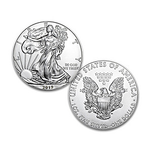 2019 First Strike American Eagle Silver Dollar And Display