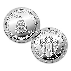 The Gadsden Flag 1 Oz. Silver Proof Coin With Display Box