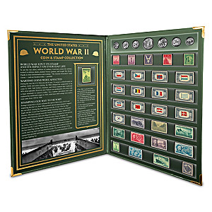 World War II U.S. Coin And Stamp Set With Collector's Folio