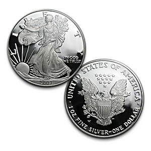 2007 Proof Silver Eagle Dollar With Original Reverse Design