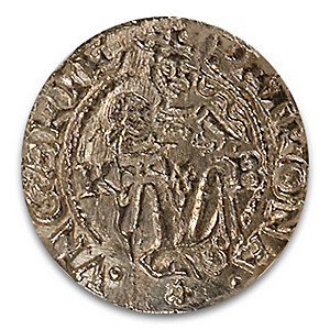 16th Century Hungarian Madonna And Child Silver Denar Coin