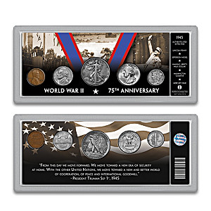 Complete 1945 WWII Victory Coin Set And Deluxe Display Box