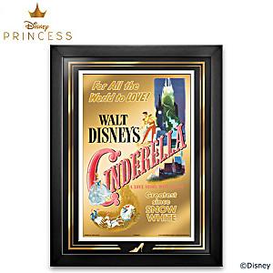 Disney Cinderella Framed 24K Gold Poster