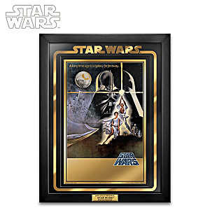 Star Wars 24k Gold Movie Poster
