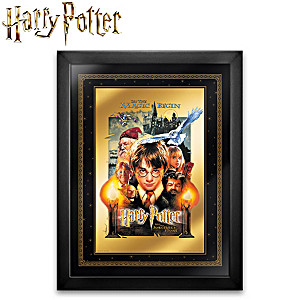 HARRY POTTER 24K Gold Framed Movie Poster