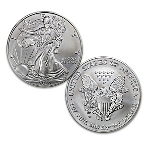 New Decade First Strike Am. Eagle Silver Dollar And Display
