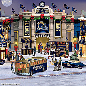 St. Louis Rams Illuminated Christmas Village