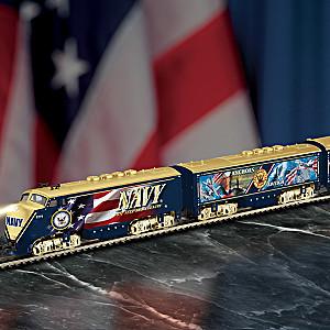 "HO-Scale ""U.S. Navy Express"" Illuminated Train Collection"