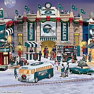 Philadelphia Eagles Illuminated Christmas Village Collection