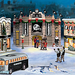 Oakland Raiders Illuminated Christmas Village Collection
