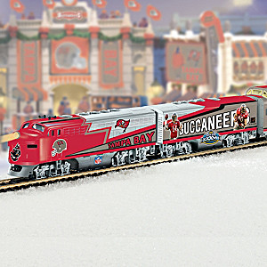 """""""Tampa Bay Buccaneers Express"""" Illuminated Electric Train"""