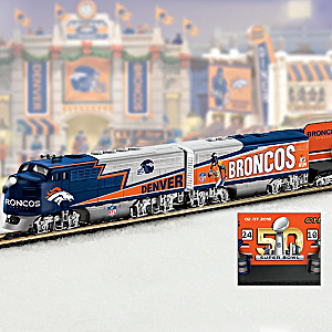 Broncos Superbowl 50 Champions Electric Train Collection