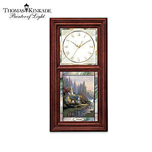 Thomas Kinkade Lighted Stained-Glass Clock Collection