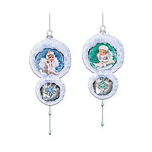 G.G. Santiago Baby Snow Angels Holiday Ornaments