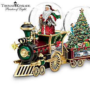 Christmas Train With Thomas Kinkade Art And Snowglobes