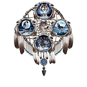 Glow-In-The-Dark Native American-Style Wolf Plate Collection