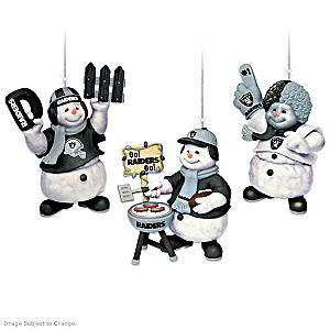 Officially Licensed Oakland Raiders Snowmen Ornaments