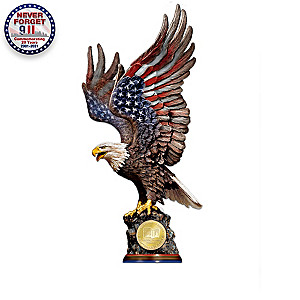 Patriotic September 11 Tribute Eagle Sculpture Collection