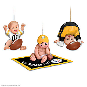 Pittsburgh Steelers Fan Baby Ornament Collection
